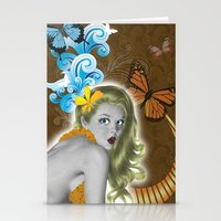 pinup Stationery Cards featuring Pinup by Sarah Churchill