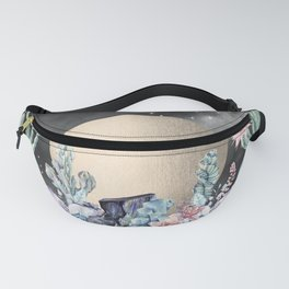 Desert Nights Gold Moon and Gemstones Fanny Pack