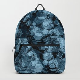 Blue hexagons. Kaleidoscope Backpack