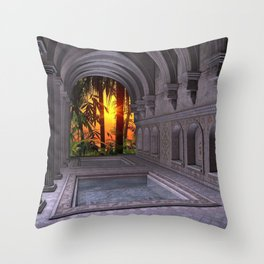 Ancient Spa Throw Pillow
