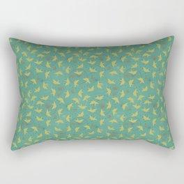 Vintage Origami Cranes Rectangular Pillow