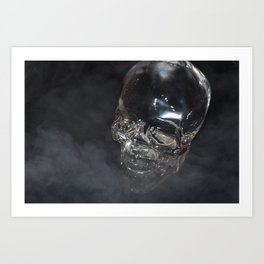 Smoking Skull cloud Art Print