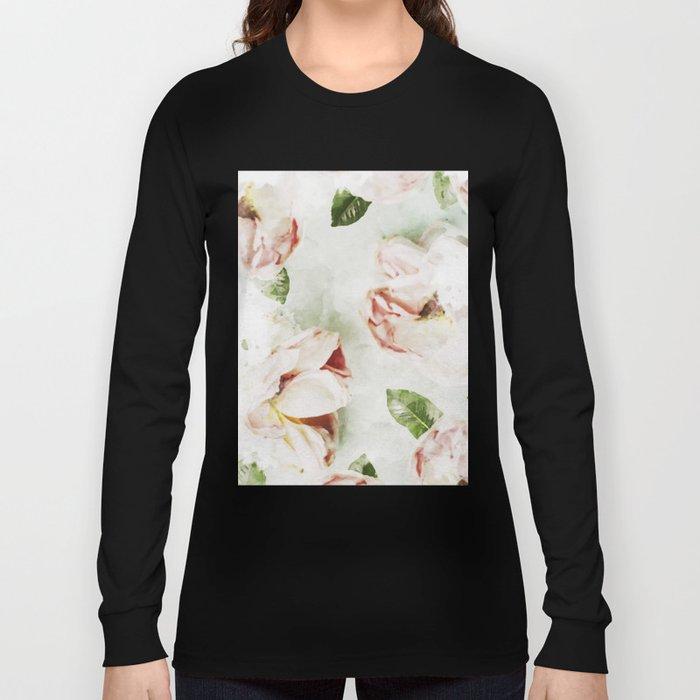 Roses & Foliage Watercolor Long Sleeve T-shirt
