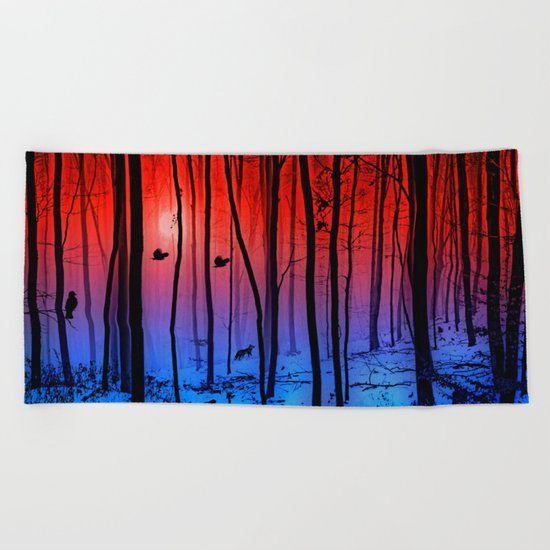 Mystical forest Beach Towel