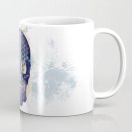 Purple Skull with Moustache Coffee Mug