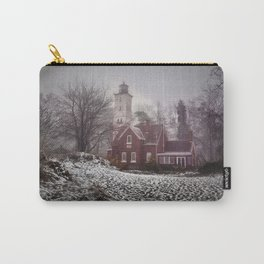 Winter at Presque Isle Lighthouse Carry-All Pouch