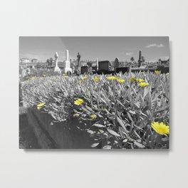 Flowers and Gravestones Metal Print