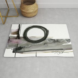 Enso Abstraction No. 112 by Kathy morton Stanion Rug