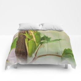 Painted Green Tree Frog Comforters