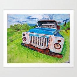 Beat up truck Art Print
