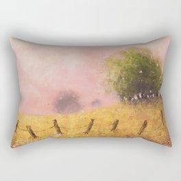 Quiet Pasture Soft Pastel Art Print Rectangular Pillow