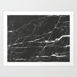 Black & White Marble Art Print