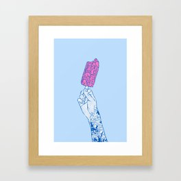Brain ice cream! mmmmm Framed Art Print