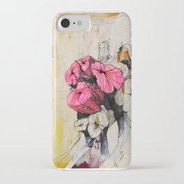 Pink wood stumps iPhone Case