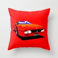 ferrari Throw Pillows featuring FERRARI by haydiroket