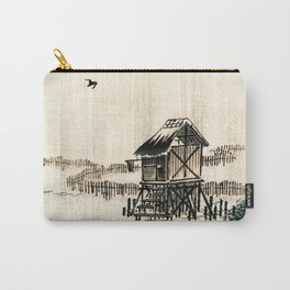 The Fishermen Palafitte Traditional Japanese Landscape Carry-All Pouch