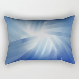 Blue Streaks of Light Rectangular Pillow