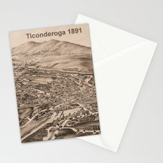 Ticonderoga Map 1891  (sepia) Stationery Cards