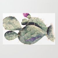 cactus Area & Throw Rugs featuring CACTUS by Annet Weelink Design