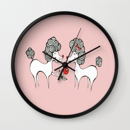 Poodle Love Wall Clock