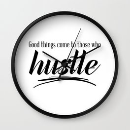 Hustle and Reap Wall Clock