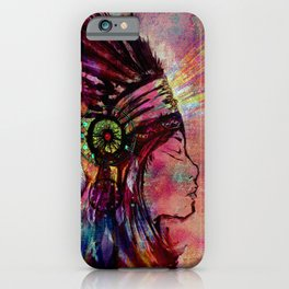 Native American Medicine Woman Spiritual Shaman iPhone Case