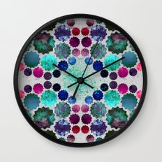 Burst Grey Wall Clock