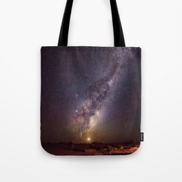 Rising Venus and the Milky Way Down Under Tote Bag