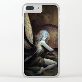 Fairy and Mushroom Clear iPhone Case