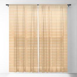 Sunrise Orange Glow  Sheer Curtain