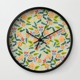 Happiest Flowers Wall Clock