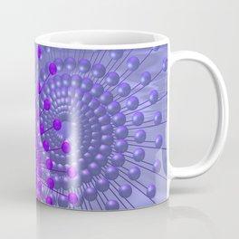 violet and blue spirals Kaffeebecher