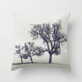 bleak trees... Throw Pillow