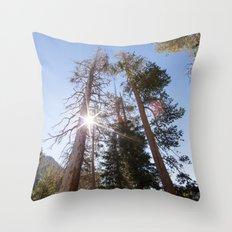 Mountainside Jeffrey Pine Trees (Lower Echo Lake, California) Throw Pillow