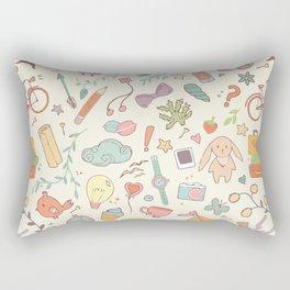 Cute Patt White Rectangular Pillow