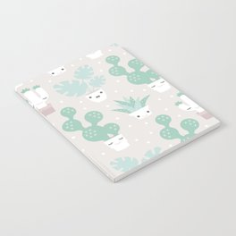 Kawaii breeze summer cactus succulent and plants home garden Notebook