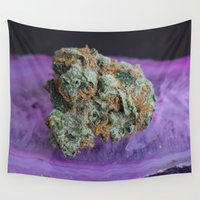 medical Wall Tapestries featuring Jenny's Kush Medical Weed by BudProducts.us