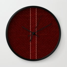 Rustic Red Jeans Wall Clock