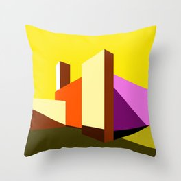 Casa Barragán Modern Architecture Throw Pillow