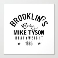 mike tyson Canvas Prints featuring Iron Mike Tyson by Maioriz Home