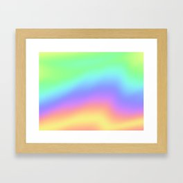 Holographic Foil Colorful Gradient Pattern Framed Art Print