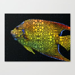 Tropical Fish 12 - Abstract Art By Sharon Cummings Canvas Print