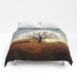 Winter Tree on Tooting Common Comforters