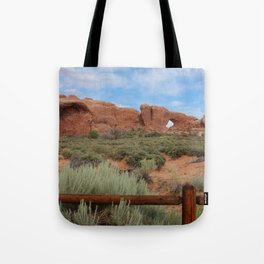 Vertical Arches National Park Tote Bag