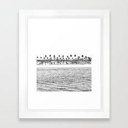 Vintage Newport Beach Print {4 of 4} | Photography Ocean Palm Trees B&W Tropical Summer Sky Framed Art Print