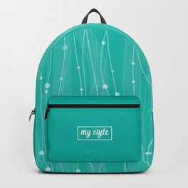 Тurquoise Pattern With Lines And Dots Backpack