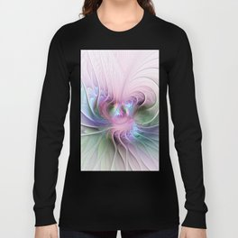 Temperament, Colorful Abstract Fractals Art Long Sleeve T-shirt