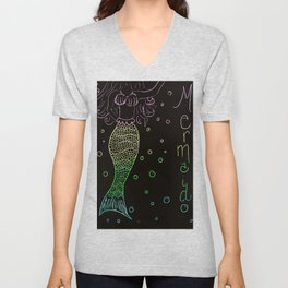 Mermaid In The Dark Unisex V-Neck