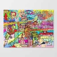 league Canvas Prints featuring Mutant League by Rat McDirtmouth