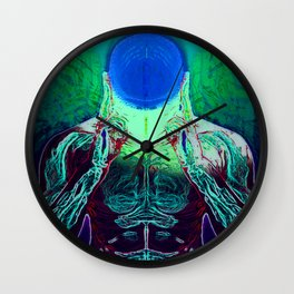 MIND #1 Psychedelic Meditation Vibrant Ethereal Design Wall Clock